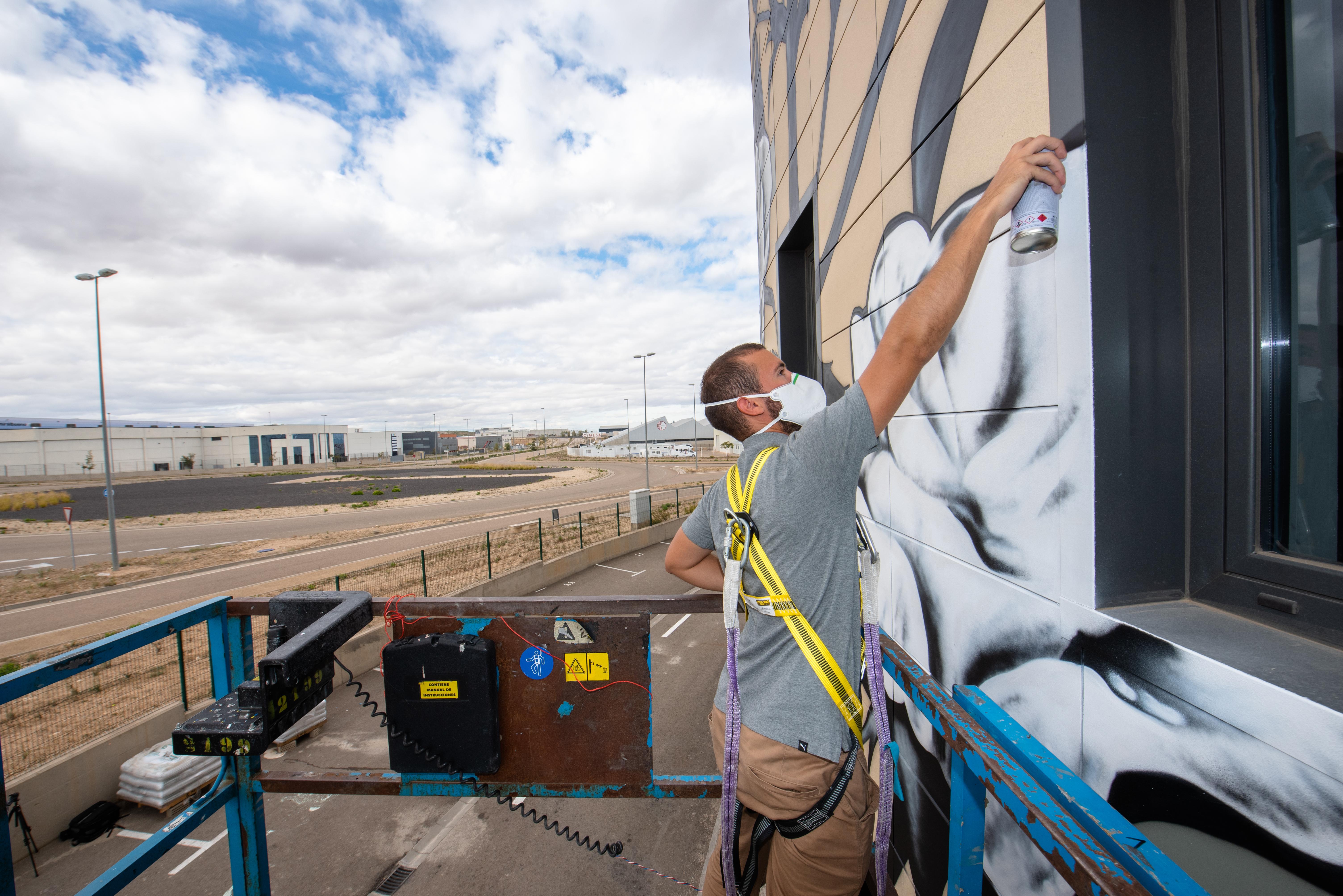 Graffiti mural zaragoza