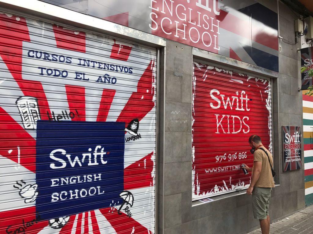 Graffiti academia inglés